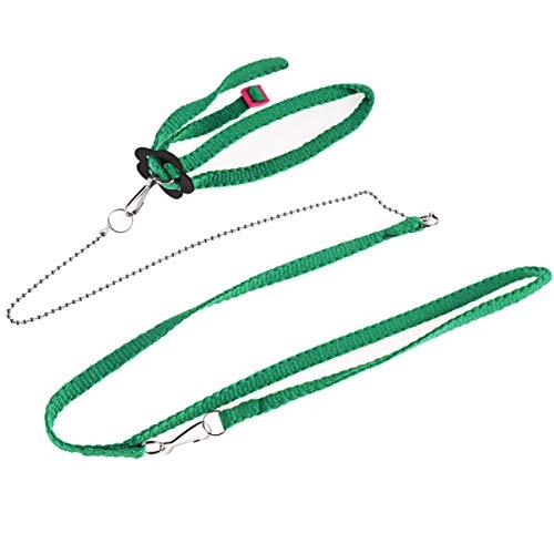UEETEK 1.2M Ajustable el Lazo del Lagarto del Reptil Correa para el Paseo al Aire Libre (Verde)