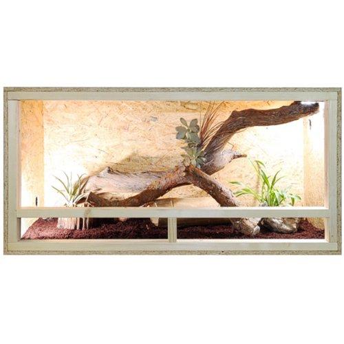 Terrario: madera Terrario para Reptiles página ventilación 120 x 60 x 60 cm, alta calidad Terrario...